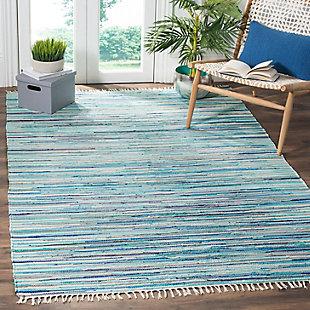 Rag 5' x 8' Area Rug, Blue, rollover