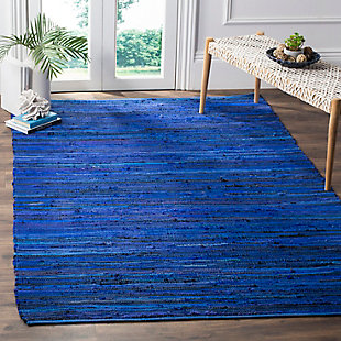 Rag 6' x 9' Area Rug, Blue, rollover