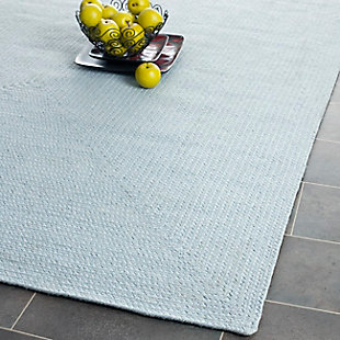 Reversible 5' x 8' Area Rug, Blue, rollover