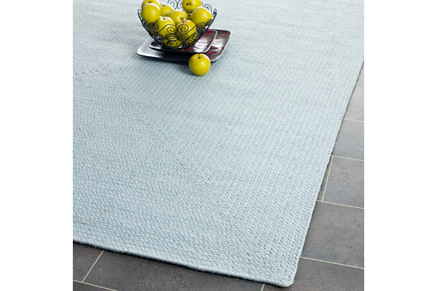 Reversible 5' x 8' Area Rug, Blue, large