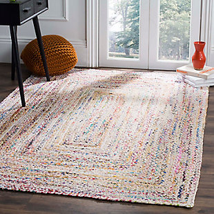 Reversible 8' x 10' Area Rug, Red/White, rollover