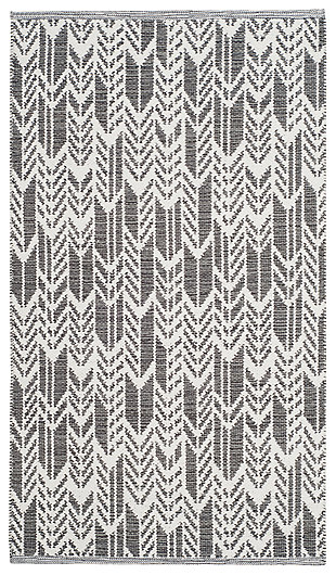 "Hand Crafted 2'3"" x 7' Runner Rug, Gray/White, large"