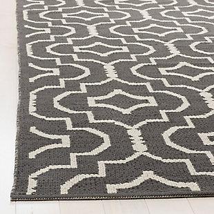 Modern 3' x 5' Doormat, Gray/White, rollover