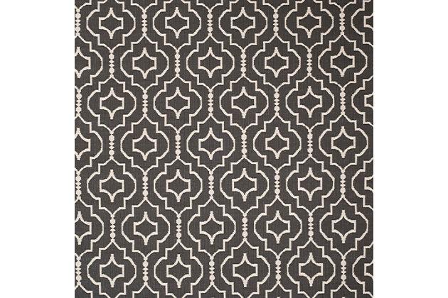 Modern 8' x 10' Area Rug, Gray/White, large