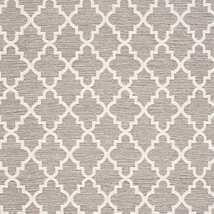 Modern 5' x 8' Area Rug, Gray/White, large