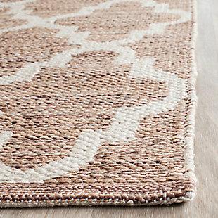 Modern 3' x 5' Doormat, Beige/White, rollover
