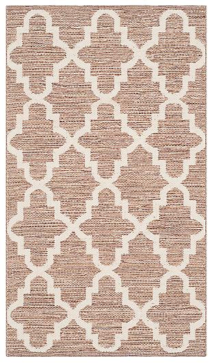 Modern 3' x 5' Doormat, Beige/White, large