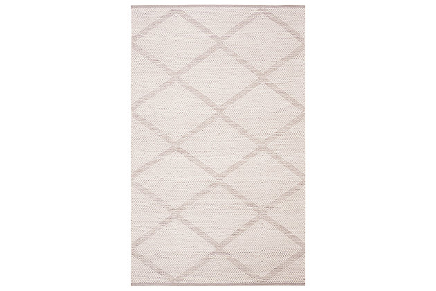 Modern 6' x 9' Area Rug, Gray, large