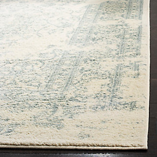 Distressed 6' x 9' Area Rug, Gray/Black, rollover