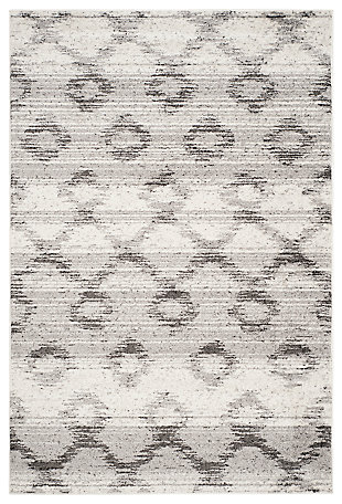 "Power Loomed 5'1"" x 7'6"" Area Rug, Gray, large"