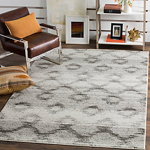 "Power Loomed 5'1"" x 7'6"" Area Rug, Gray, rollover"