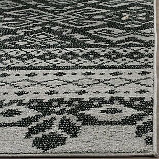 Power Loomed 3' x 5' Doormat, Gray/Black, rollover