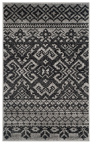 Power Loomed 3' x 5' Doormat, Gray/Black, large