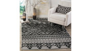 Power Loomed 4' x 6' Area Rug, Gray/Black, rollover