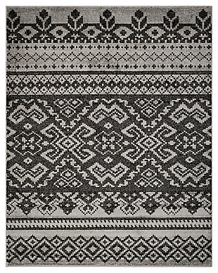 Power Loomed 8' x 10' Area Rug, Gray/Black, large