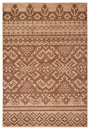 "Power Loomed 5'1"" x 7'6"" Area Rug, Brown, large"