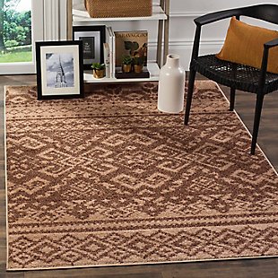 "Power Loomed 5'1"" x 7'6"" Area Rug, Brown, rollover"