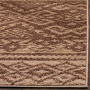 Power Loomed 6' x 6' Square Rug, Brown, rollover