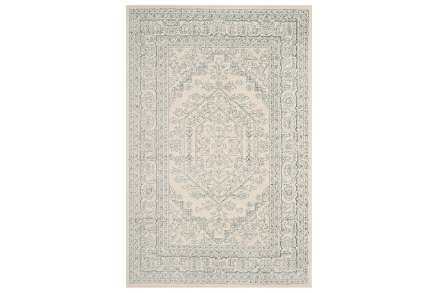 Accessory 4' x 6' Area Rug, Gray/White, large