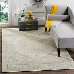 Accessory 4' x 6' Area Rug, Gray/White, rollover