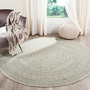 Accessory 6' x 6' Round Rug, Gray/White, rollover