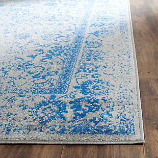 "Accessory 2'6"" x 20' Runner Rug, Blue/Gray, rollover"