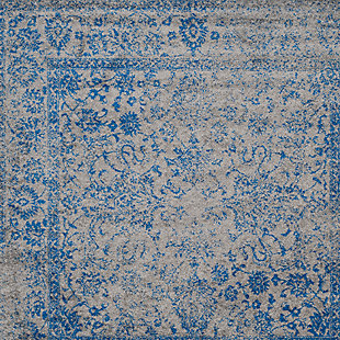 """Accessory 2'6"""" x 20' Runner Rug, Blue/Gray, large"""