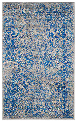Accessory 4' x 6' Area Rug, Blue/Gray, large