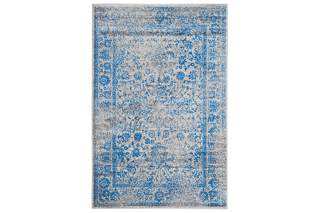 "Accessory 5'1"" x 7'6"" Area Rug, Blue/Gray, large"