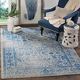 Accessory 8' x 8' Square Rug, Blue/Gray, rollover