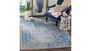Accessory 8' x 8' Square Rug, Blue/Gray, rollover