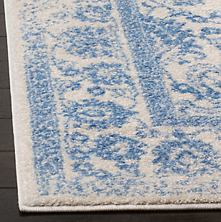 Accessory 3' x 5' Doormat, White/Blue, rollover