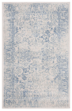 Accessory 3' x 5' Doormat, White/Blue, large
