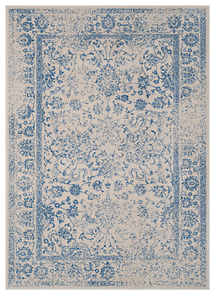 "Accessory 5'1"" x 7'6"" Area Rug, White/Blue, large"