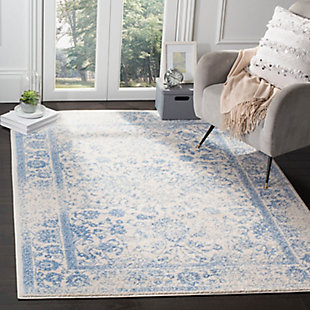 "Accessory 5'1"" x 7'6"" Area Rug, White/Blue, rollover"