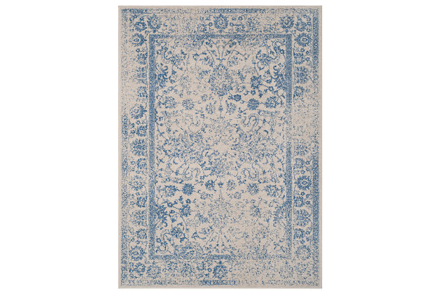 Accessory 6' x 9' Area Rug, White/Blue, large