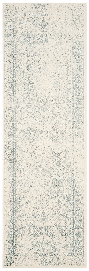 "Accessory 2'6"" x 4' Runner Rug, Gray/White, large"