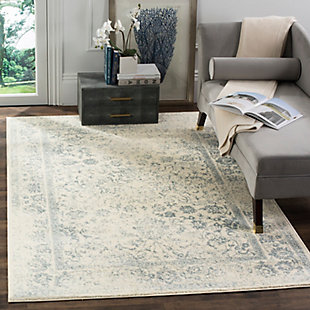 "Accessory 5'1"" x 7'6"" Area Rug, Gray/White, rollover"