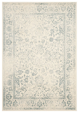 """Accessory 5'1"""" x 7'6"""" Area Rug, Gray/White, large"""