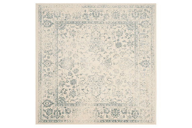 Accessory 8' x 8' Square Rug, Gray/White, large
