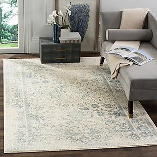 Accessory 6' x 6' Square Rug, Gray/White, rollover