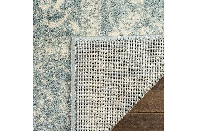 "Accessory 2'6"" x 8' Runner Rug, Gray/White, large"
