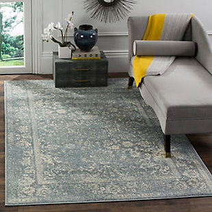 Accessory 6' x 6' Square Rug, Gray/White, rollover