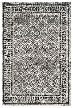 """Power Loomed 5'1"""" x 7'6"""" Area Rug, Gray/White, large"""