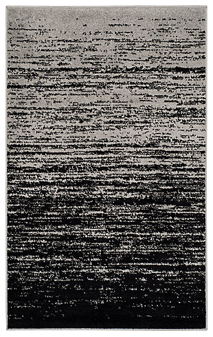 Ombre 4' x 6' Area Rug, Gray/Black, large