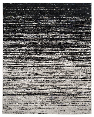Ombre 8' x 10' Area Rug, Gray/Black, large