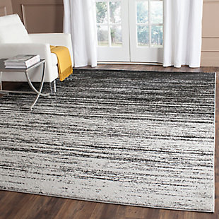 Ombre 8' x 8' Square Rug, Gray/Black, large