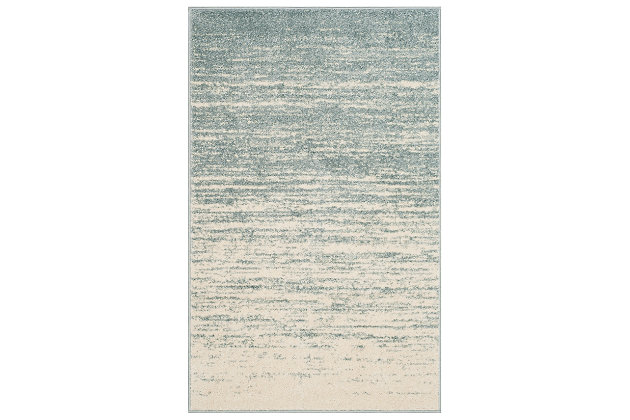 Ombre 4' x 6' Area Rug, Gray/White, large
