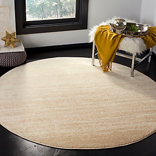 Ombre 6' x 6' Round Rug, Beige, large