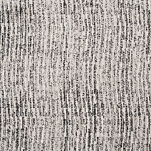 """Abstract 2'6"""" x 20' Runner Rug, Gray/Black, large"""